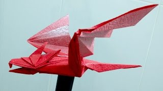 getlinkyoutube.com-Paper Dragon - How to make an easy origami dragon
