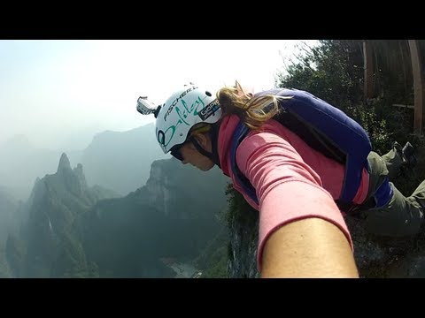 China BASE jumping