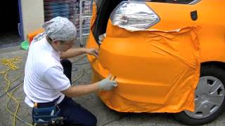 getlinkyoutube.com-カー ラッピング FIT shuttle  Car wrapping FIT shuttle
