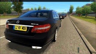 getlinkyoutube.com-City Car Driving Mercedes-Benz E63 AMG High Traffic [1080p]