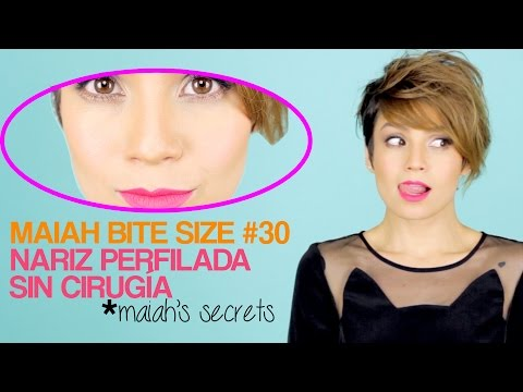 Maquillaje para la nariz ancha - How To Make Your Nose Look Smaller - Maiah Ocando