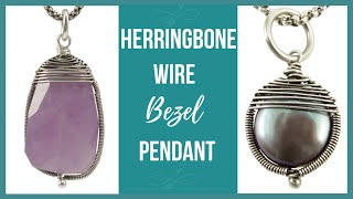 getlinkyoutube.com-Herringbone Wire Bezel Pendant Tutorial - Beaducation.com