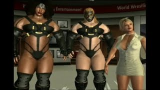 getlinkyoutube.com-The Sisters of Payne - female versus male tag team wrestling at the Amazon Club