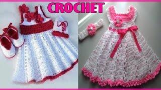 getlinkyoutube.com-Vestidos Para Niña Bebe - Tejidos a Crochet