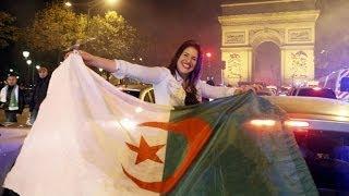 مبارات الجزائر 2014 احتفال الجالية العرب في كورنيش الدوحة Algeria -٢