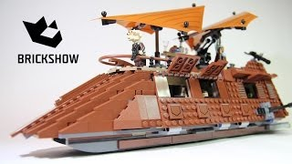 getlinkyoutube.com-Lego Star Wars 75020 Jabba's Sail Barge Build & Review