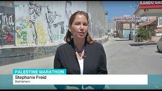 getlinkyoutube.com-102 athletes from Gaza banned from Palestine Marathon, Stephanie Freid reports
