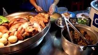 getlinkyoutube.com-タイ 屋台の豚めし 激安物価 50バーツでメチャウマ