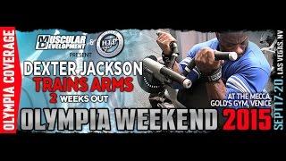 getlinkyoutube.com-Dexter Jackson Trains Arms 2 Weeks Out - Mr. Olympia 2015