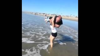 Dawn Riehl presses man overhead