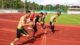 getlinkyoutube.com-100M & 200M sprint full workout drills#Evans Road stadium#2015