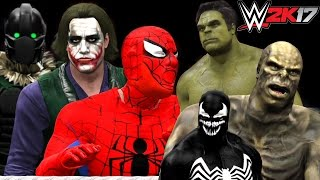 getlinkyoutube.com-SPIDERMAN VS THE VULTURE VS VENOM VS JOKER VS HULK VS ABOMINATION -  WWE 2K17
