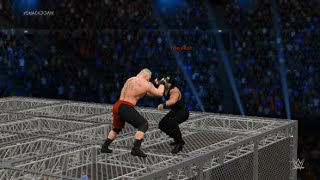 getlinkyoutube.com-WWE 2K15 XBOX ONE - BROCK LESNAR VS ROMAN REIGNS - HELL IN A CELL EPIC MATCH