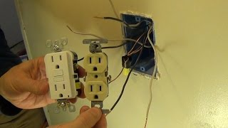 getlinkyoutube.com-How to Install a Ground Fault Circuit Interrupter (GFCI) Outlet Plug