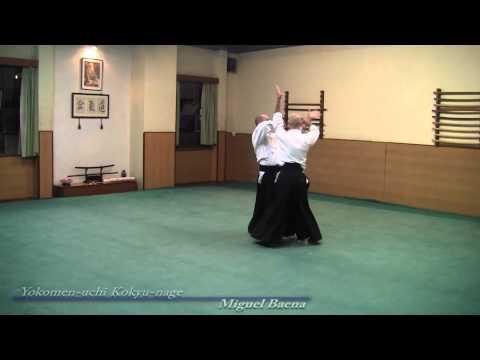 Aikido, Yokomen-uchi Kokyu-nage, Miguel Baena