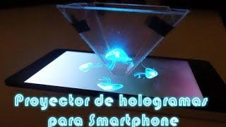 getlinkyoutube.com-Como hacer un proyector de hologramas piramidal para el telefono movil, celular o smartphone