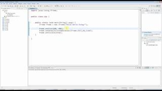 getlinkyoutube.com-Advanced Java: Swing (GUI) Programming Part 1 -- A Basic Swing Application
