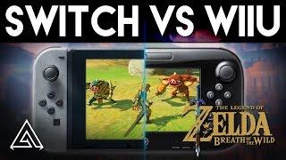 Zelda Breath of the Wild | Nintendo Switch vs. WiiU Gameplay Comparison