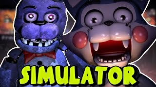 "PLAYING AS ALL THE ANIMATRONICS ?! - The Return To Freddy's Simulator ""All Animatronics"""