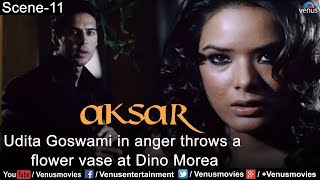 getlinkyoutube.com-Udita Goswami throws a Flower Vase at Dino Morea (Aksar)