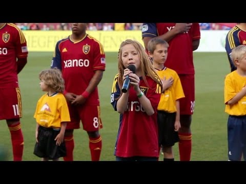 11-year-old Lexi Walker sings National Anthem at Real Salt Lake Game