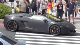 getlinkyoutube.com-加速3連発!! 都内で爆音のランボルギーニ ガヤルド3台に遭遇! [HD] Amazing sound lamborghini gallardo in Japan Tokyo!