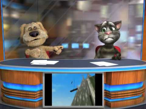 Talking Tom & Ben News. Top story - cat causes train crash