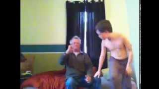 getlinkyoutube.com-Me and my dad wrestling part 2
