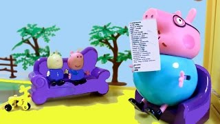 getlinkyoutube.com-Peppa Pig свинка пеппа. Мультфильм. Ричард , Джордж и папа свин играют в игру горячо - холодно.