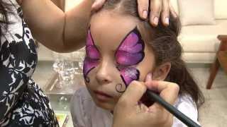 getlinkyoutube.com-Aprenda a fazer uma bela pintura artística em rosto de criança!