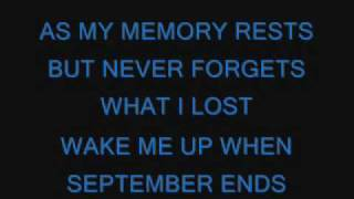getlinkyoutube.com-Green Day-Wake Me Up When September Ends lyrics