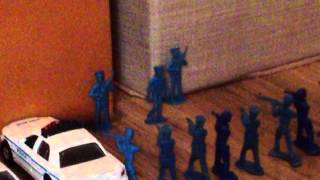Zombies attack the city (Army Men Stop Motion)