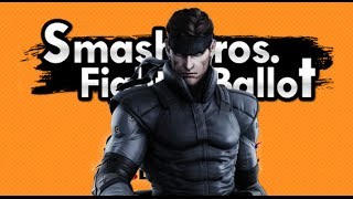 getlinkyoutube.com-Smash Bros Fighter Ballot- Solid Snake