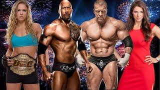 getlinkyoutube.com-WWE 2k16 - The Rock w Ronda Rousey VS Triple H w Stephanie McMahon