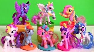 getlinkyoutube.com-MLP McDonalds Happy Meal Toys My Little Pony DJ Pon3 Vinyl Scratch Play Doh Pinkie Pie 2014