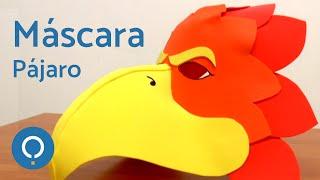 getlinkyoutube.com-Máscara pájaro con goma Eva