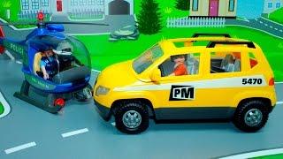 getlinkyoutube.com-Машинки в мультике Угон Автомобиля. Машинки Playmobil: Джип. Легковая машинка. Мультики про машинки.