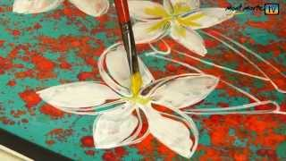 getlinkyoutube.com-Art Lesson: How to Paint Abstract Flowers Using Acrylic Paint