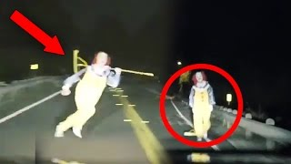 getlinkyoutube.com-Top 15 SCARIEST Clown Videos Caught on Camera! (Creepy Killer Clown Sightings)