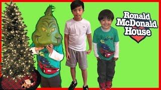 getlinkyoutube.com-Toys for Kids Donating to Ronald McDonald House Charities Ryan ToysReview