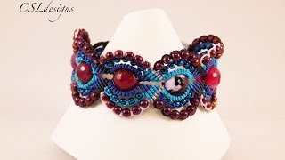 getlinkyoutube.com-Micro macrame circles bracelet