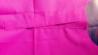 HOW TO MAKE PERFECT PLACKET (EASY)