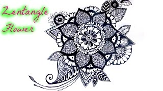 getlinkyoutube.com-Draw a Zentangle Flower