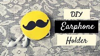 getlinkyoutube.com-Art and Craft: Earphone Holder recycling Old Notebook?! DIY Earphone Holder!