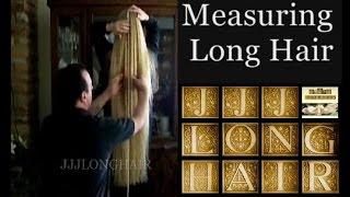 getlinkyoutube.com-Measuring Long Hair- Knee length in 2009