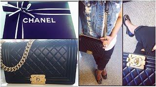 getlinkyoutube.com-Chanel Le Boy Bag REVIEW! Old Medium Size