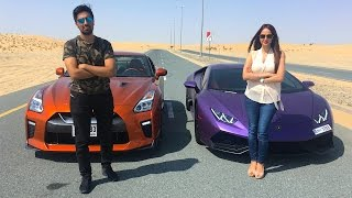 getlinkyoutube.com-LAMBORGHINI RACING VS MY SISTER !!!