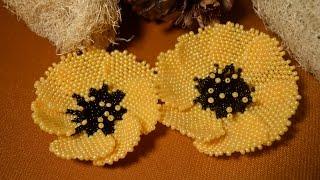 getlinkyoutube.com-Цветок из бисера. Бисероплетение.  Мастер - класс / Flowers from beads. Beading