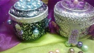 DIY Cajitas con latas de aluminio- Boxes out of aluminium cans