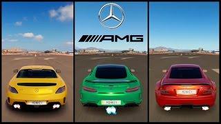 getlinkyoutube.com-Ultimate AMG Battle! | Forza Horizon 3 | SLS AMG vs AMG GTR vs SL65 AMG Black Series